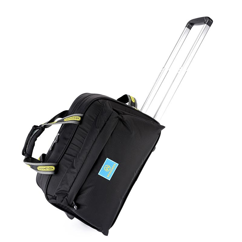 a9d33b6511 High Quality Luggage Trolley Travel Bags on Wheels Unisex Rolling ...