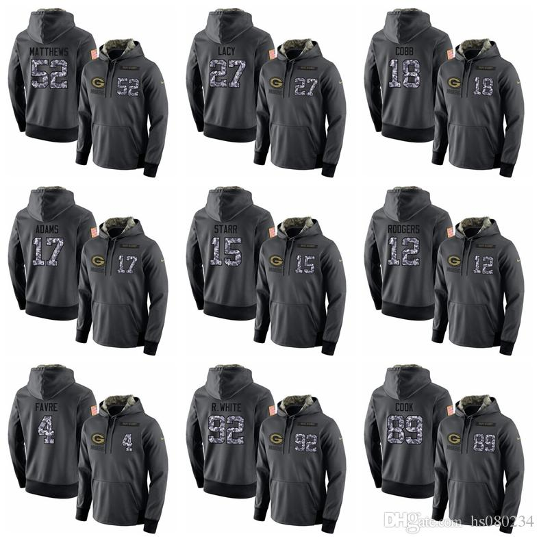 Green Bay Packers 92 R.White 89 Cook 87 Nelson 56 Peppers 52 Matthews 27  Lacy 18 Cobb 17 Adams 15 Starr Dark Grey Admiral Hoodies UK 2019 From  Hs080234 4c5bae727