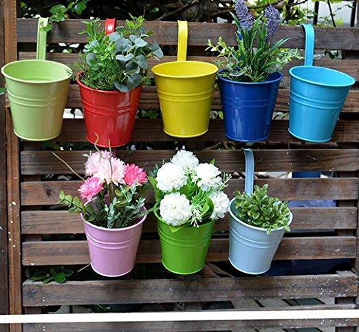 Grosshandel 8psc Hangen Blumentopfe Gartentopfe Balkon Pflanzgefasse