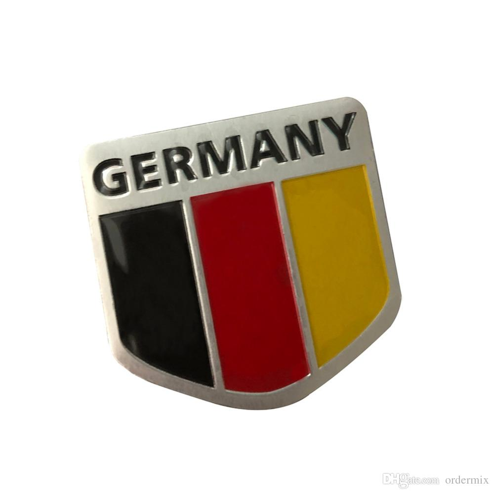 High Quality 3D Metal Germany German Flag Badge Car Front Grill Grille Emblem Stickers Racing Sports Decals Sticker