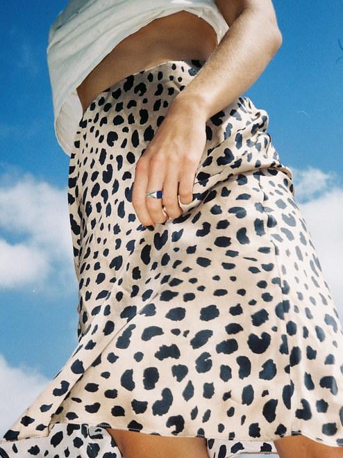 c42a421a8d97 Women Naomi Wild Things Skirt Midi Slip Style Silk Satin Leopard ...