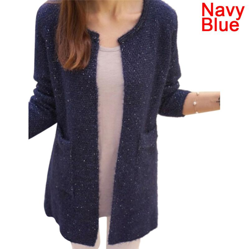 f0fc7d81e2de8 2019 Fashion Tricotado Autumn Winter Women Casual Long Sleeve Knitted  Cardigans Crochet Ladies Sweaters From Shipsoon