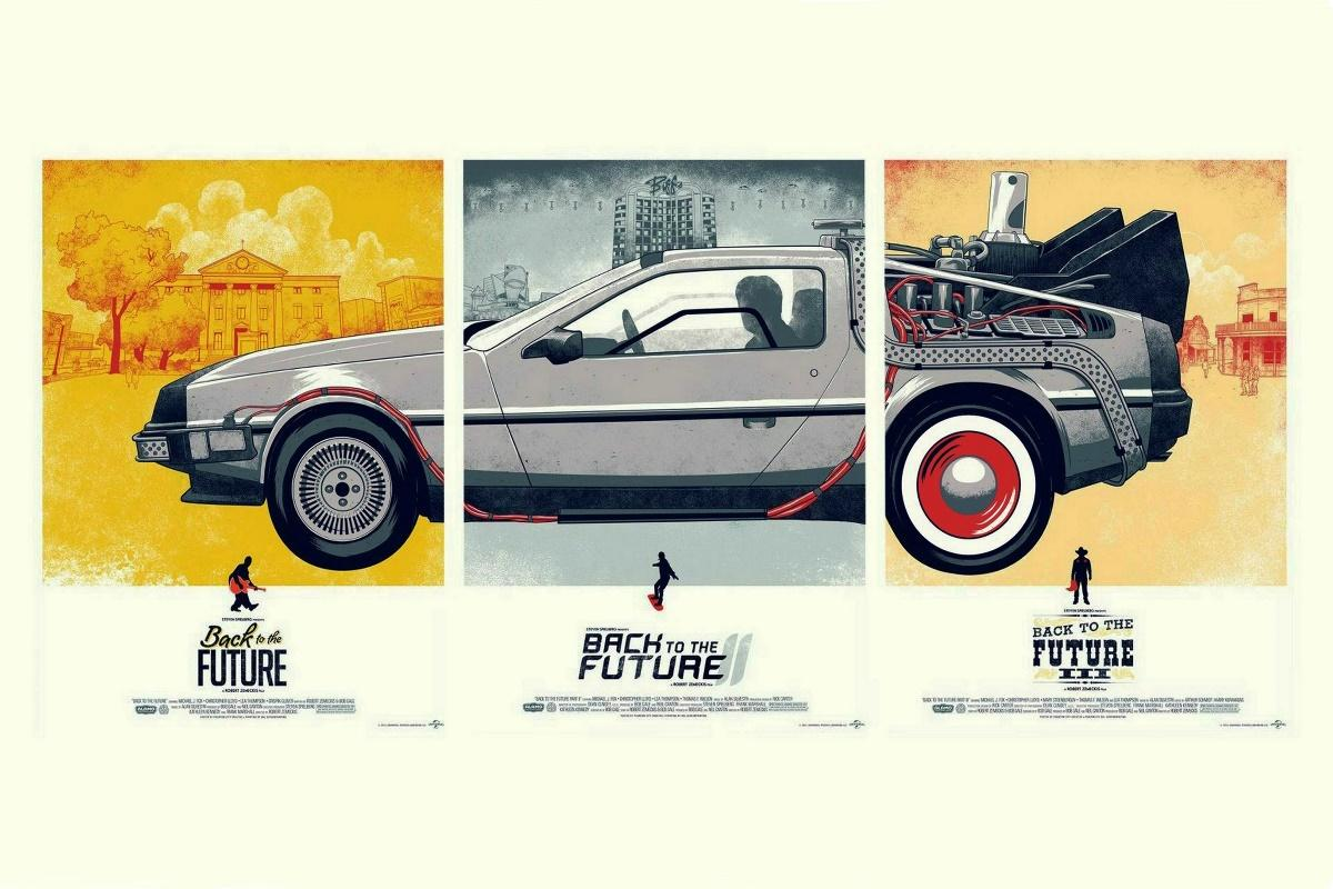 2019 Wholesale Canvas Poster Print Cars Movies Back To The Future