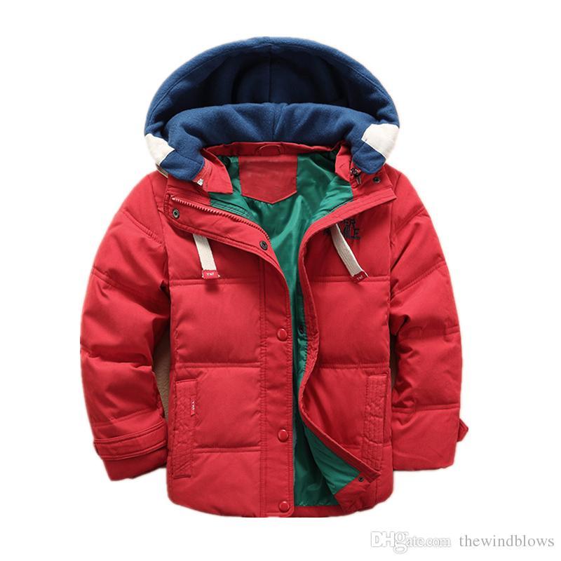 2bb9690e3896 Hot Sale Boys Down Jacket New Children Winter Casual Peach Skin ...