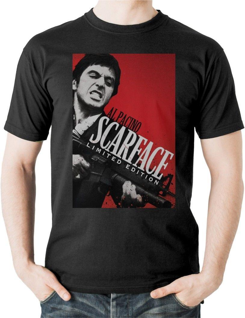 Scarface T Shirt Al Pacino Tony Montana Movie Film Classic 80s Miami Retro  USA Mens 2018 Fashion Brand T Shirt O Neck 100%cotton Top T Shirt Sites  Cool T ... ceb8024fd1