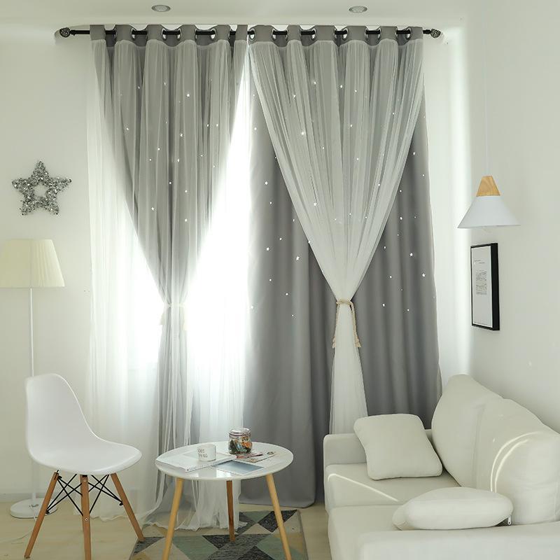 Compre Fantasy Star Sky Doble Cortina Para Comedor Living Dormitorio ...