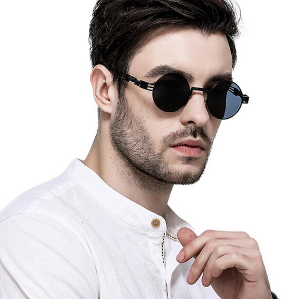 f46f5d6dd2 Sunglasses Men Women Gothic Steampunk Metal Eyeglasses Round Shades For  Women Sun Glasses Mirror UV400 Luxury Mens Sunglasses Vuarnet Sunglasses  Bifocal ...