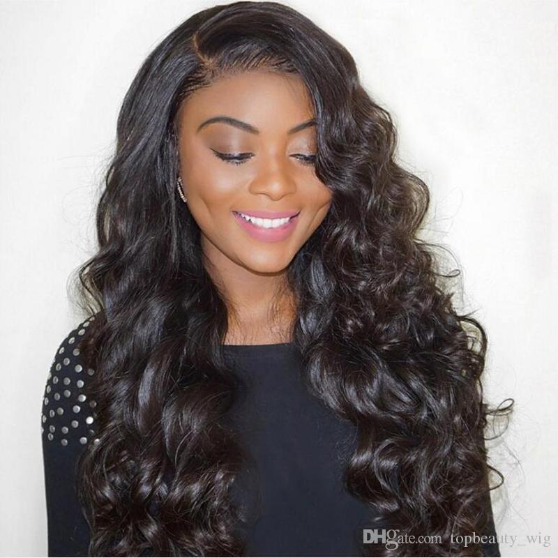 Glueless Full Lace Wig Brazilian Deep Wave Full Lace Human Hair Wigs For Black Women Best Lace Front Wig With Baby Hair