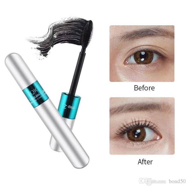 Qic Brand 2in1 3d Waterproof Eyelashes Mascara Maquiagem Cosmetics