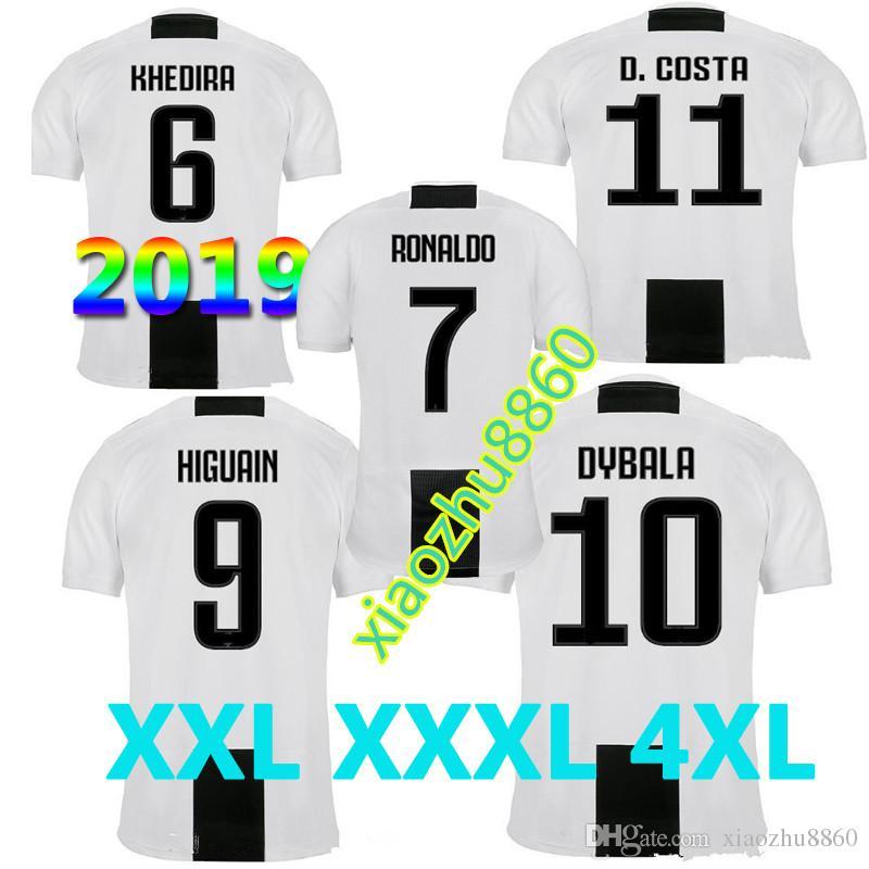 12490c347 2019 Size S 4XL 2019 Juventus Home Soccer Jersey 18 19 7 RONALDO DYBALA  Soccer Shirt MARCHISIO MANDZUKIC PJANIC HIGUAIN Football Uniform Sales From  ...