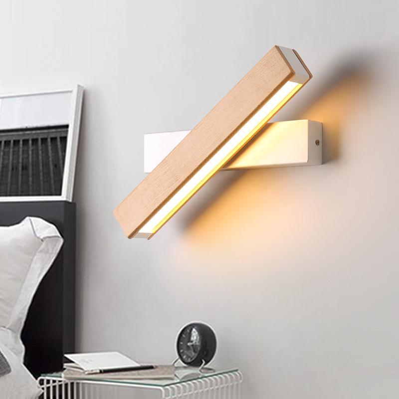 Großhandel Kreatives Design Holz LED Wandleuchte Schlafzimmer Studie ...