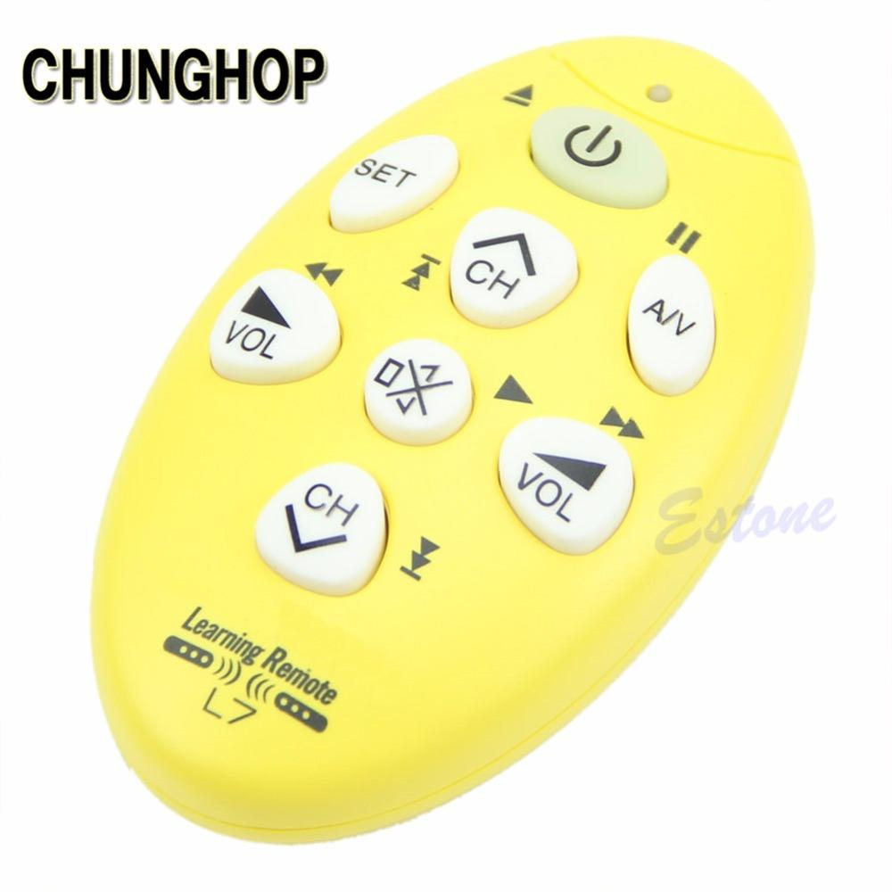 CHUNGHOP TV Remote Control Universal Mini Brand DC 3V New Learning Remote  Control RM-L7 Universal