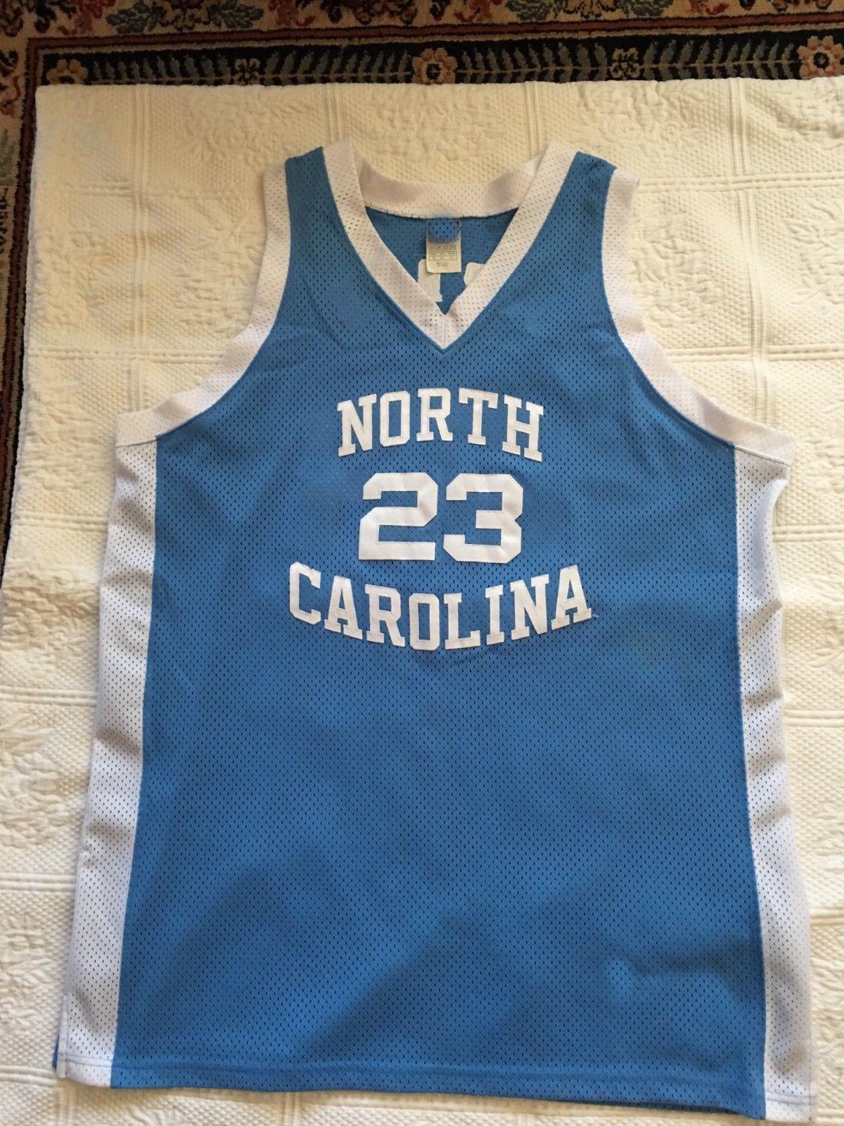 Cheap Custom Michael Jersey Blue White North Carolina 23 Stitched