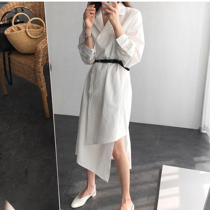 2019 Mori Girl Korea Retro Design White Dress Women 2018 New Long