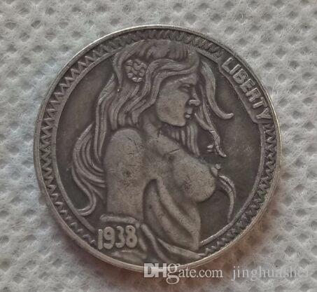 Großhandel Usa 4 Hobo Nickel Münze Buffalo Nickel Kopie Münzen