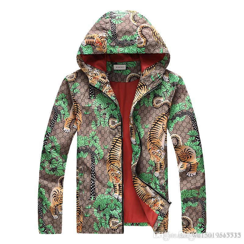 06d2b1e5f Fashion Outdoor Multicolored Bengal Tiger Blue Jungle Jacket Autumn  Sunscreen Waterproof 3G Men & Women 4G Luxury Zipper UV Protection Skin  Jackets And ...