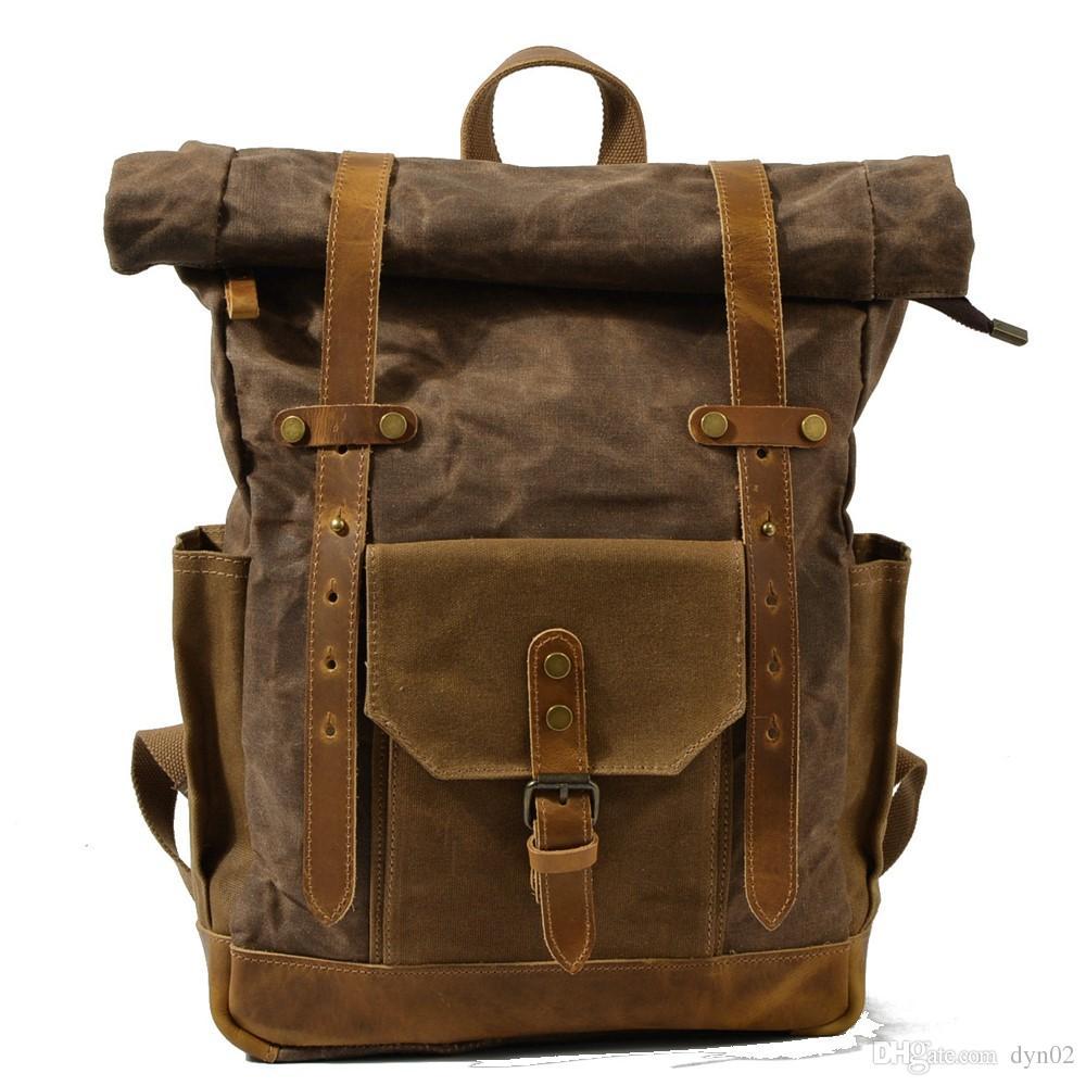 Waterproof Canvas Backpack Large Capacity Men S Backpack Europe And America  Retro Travel Bag Wear Batik Cloth Bag Hype Backpack Rucksack Backpack From  Dyn02 ... dc51ee1720b55