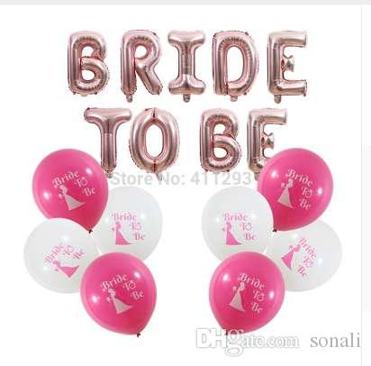 bride to be balloon bridal shower balloons bachelorette party decorations rose gold bride to be letter banners hen party balls cheap balloons personalized