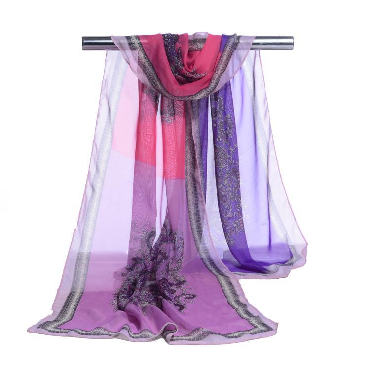 2018 새로운 hijab 패션 캐슈 너트 인쇄 스카프 여성 shawls 슈퍼 실크 쉬폰 korean 장식 직물 에어컨 패키지 벨트