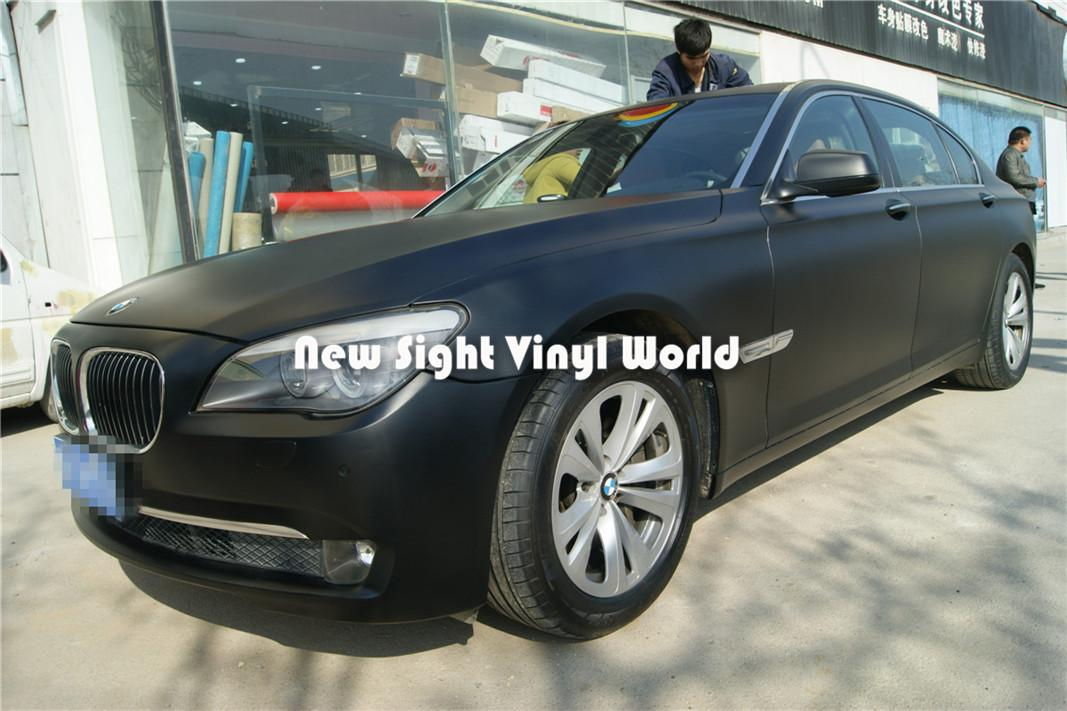 Alta Qualidade Matte Black Wrap Vinil Envoltório Preto Filme Air Bolha Livre Para O Carro Embrulhando Tamanho: 1.52 * 30 m / Roll
