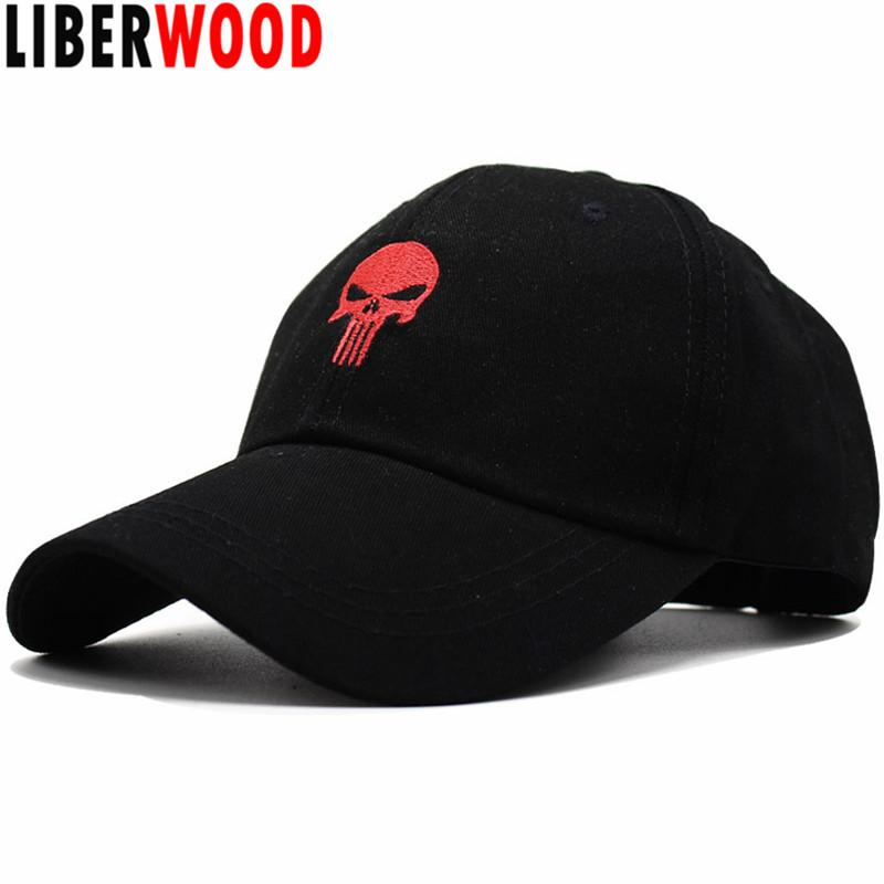 LIBERWOOD Embroidered Hero USA Punisher SKULL Logo Baseball Cap Snapback  Hats Sports Cap Structured Dad Hat Casual Men Richardson Caps Customized  Hats From ... 262d36e3704
