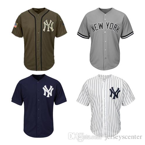 dbc4a404c98 youth mlb new york yankees blank jersey white  2018 men women youth yankees  jerseys blank jersey baseball jersey no name no number white gray