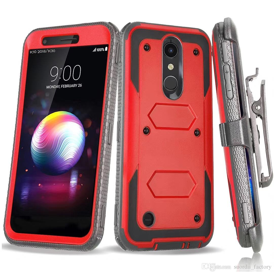 newest 8e747 505dc For LG G7 G7 Thinq K30 K20V Stylo 3 LV3 Aristo2 V20 V30 Armor Hybrid Case  Combo Holster Belt Clip Protective Defender Kickstand Phone Cover