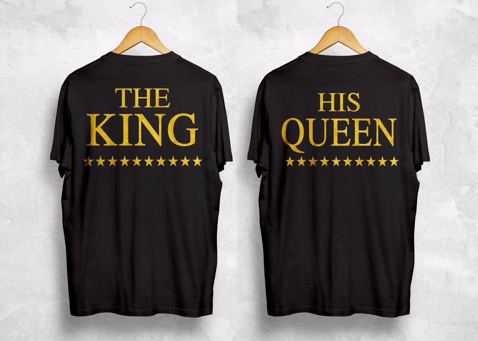 1090c8b3a4 The King His Queen T Shirt Love Valentines Couple Husband Wife Wifey  Boyfriend Funny Unisex Tee Best T Shirt Shop Online Cool T Shirt Online  From Stshirt, ...