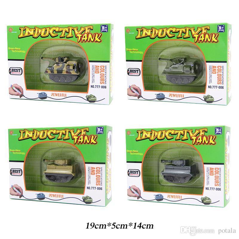 IR Inductive Engineering Tank Racing Mini Magic Pen Follow Any Drawn Line RC Cars Robots brinquedos kids toys Robot Remote Control Vehicles