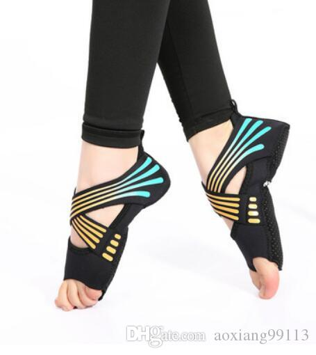 Bandage aerial yoga socks fashion skid prevention professional fitness five fingers adult exposed adult yoga shoes