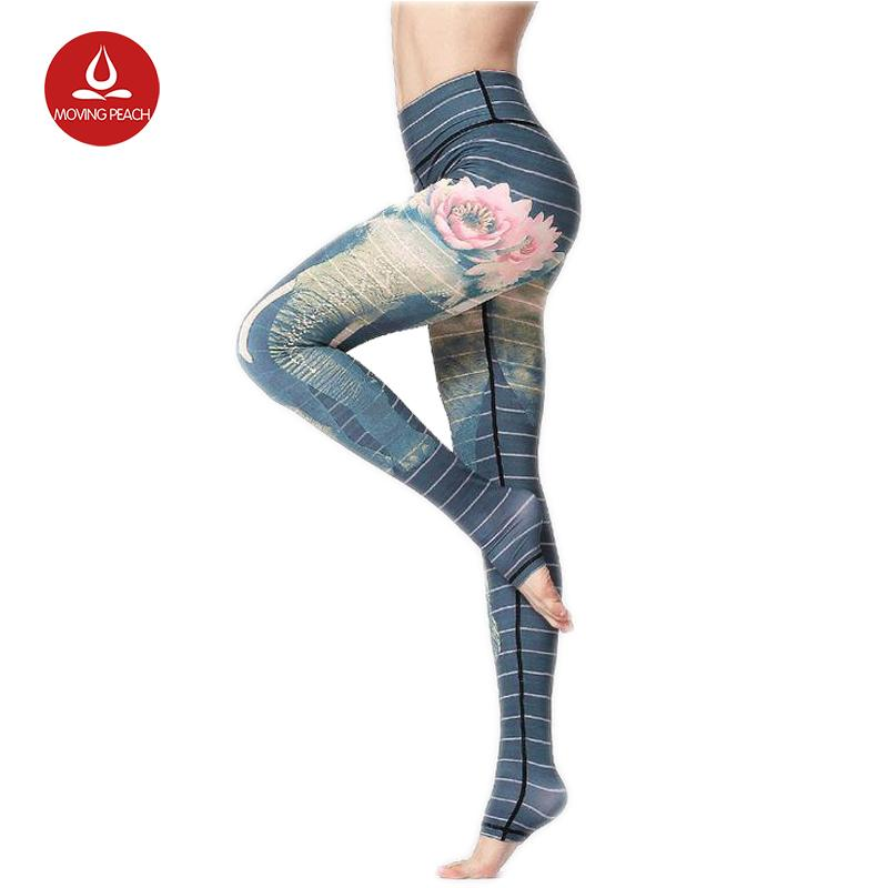 cc5c024a40607 2019 Yoga Pants Tights Fitness Gym Running Leggings Flower Sport Tights  Women Yoga Leggings Quick Dry Breathable Dance Fitness Pant From  Nicebetter, ...