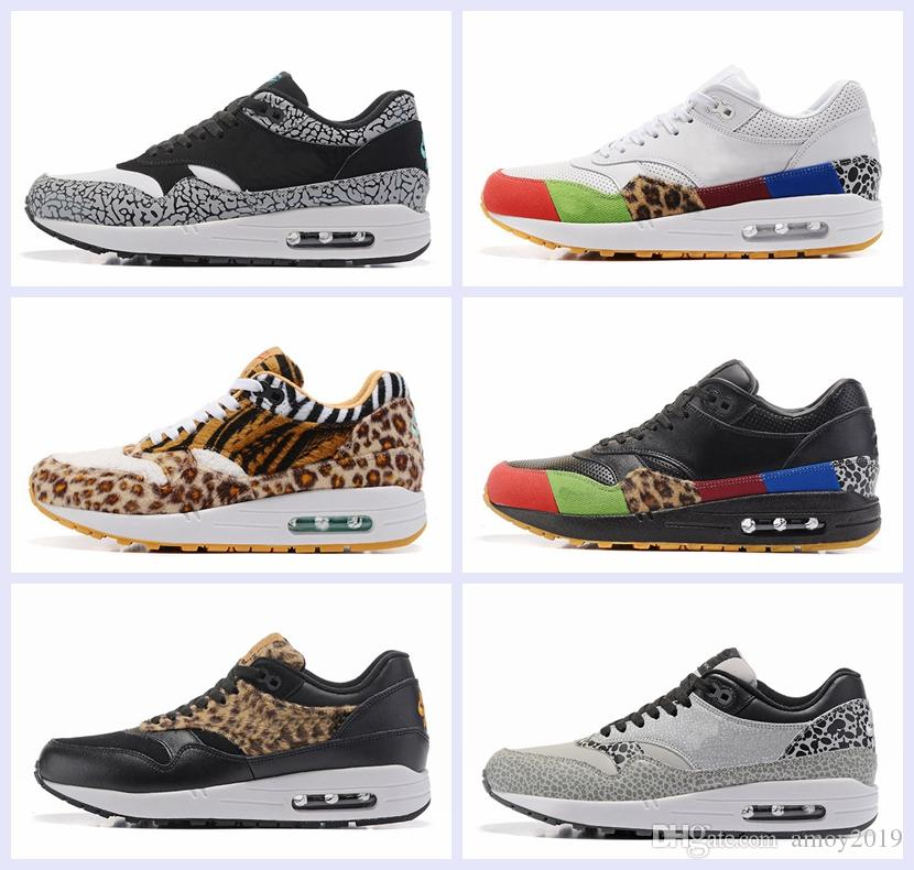 2018 Brand Shoes 1 Atmos 87 Mens Running Shoes 87s Trainers Leopard Print  Sports Air Designer Sneakers Size 40-46 Maxes 87 Shoes 87 Running Shoes  Online ... 4c192a16f