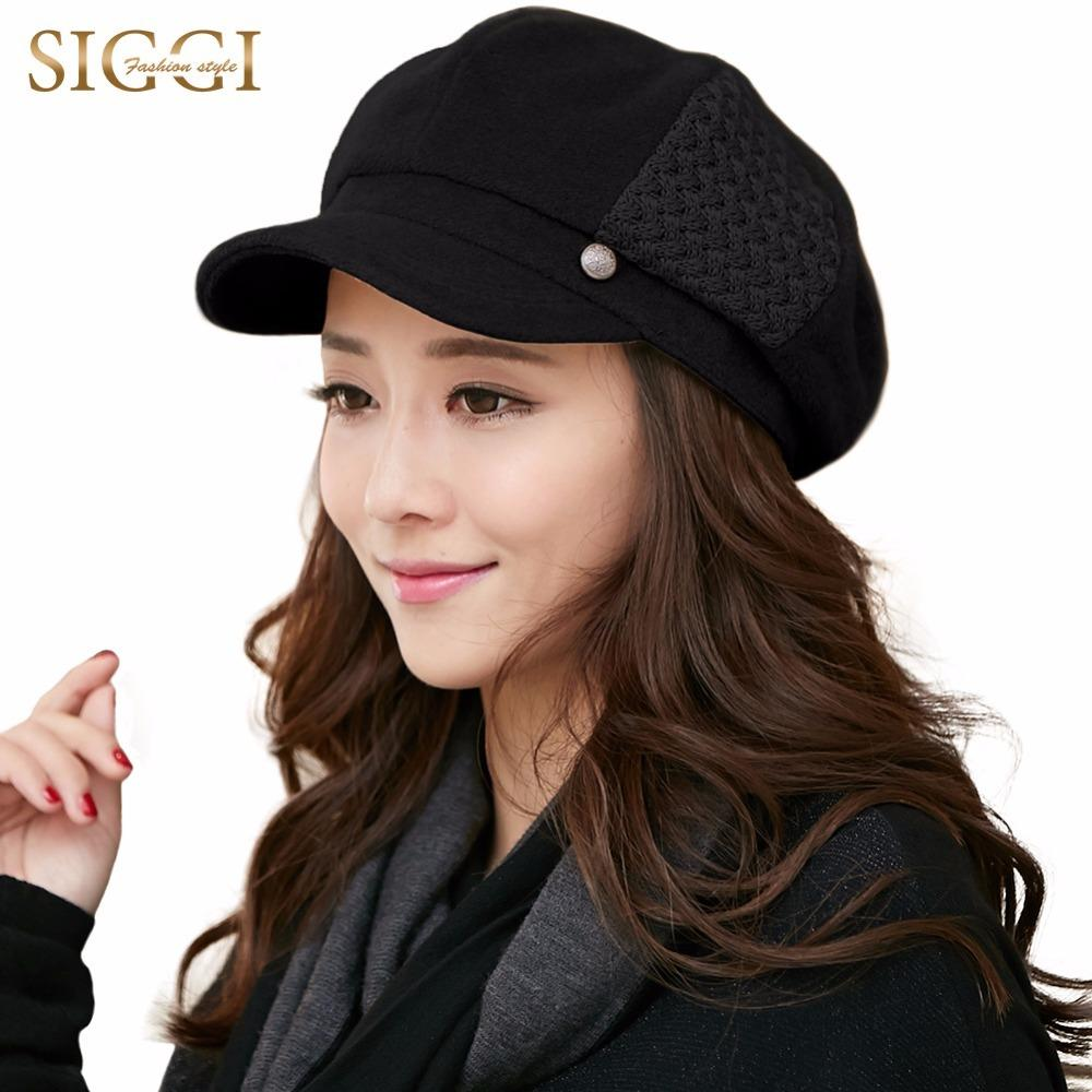 911cd17b6ba 2019 SIGGI Wool Blend Hats Women Winter Newsboy Caps Beret Painter Visor  Casquette Gavroche Vintage Elegant Fashion Gorras 68091 S18101708 From  Datai