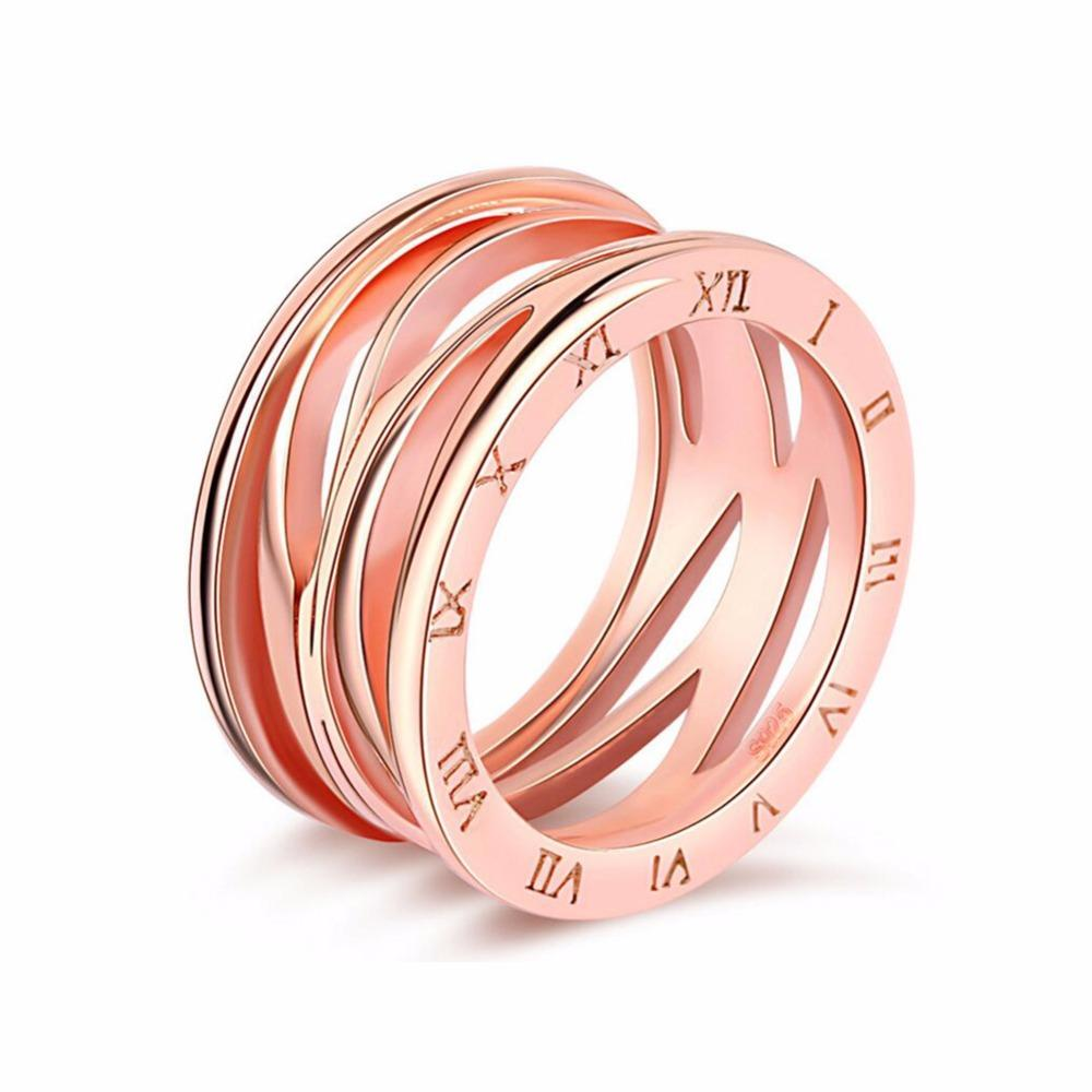 2018 Trendy Women\'s Rings Roman Numerals Rose Gold Color Fashion ...