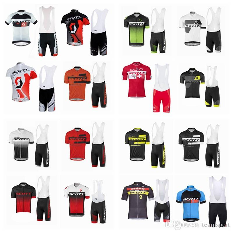 2c9717097 SCOTT Team Cycling Short Sleeves Jersey Bib Shorts Sets New Hot Men MTB  Breathable Bib Shorts Shirt Sets 860902 Cycling Pants Cycle Shorts From  Teamsport