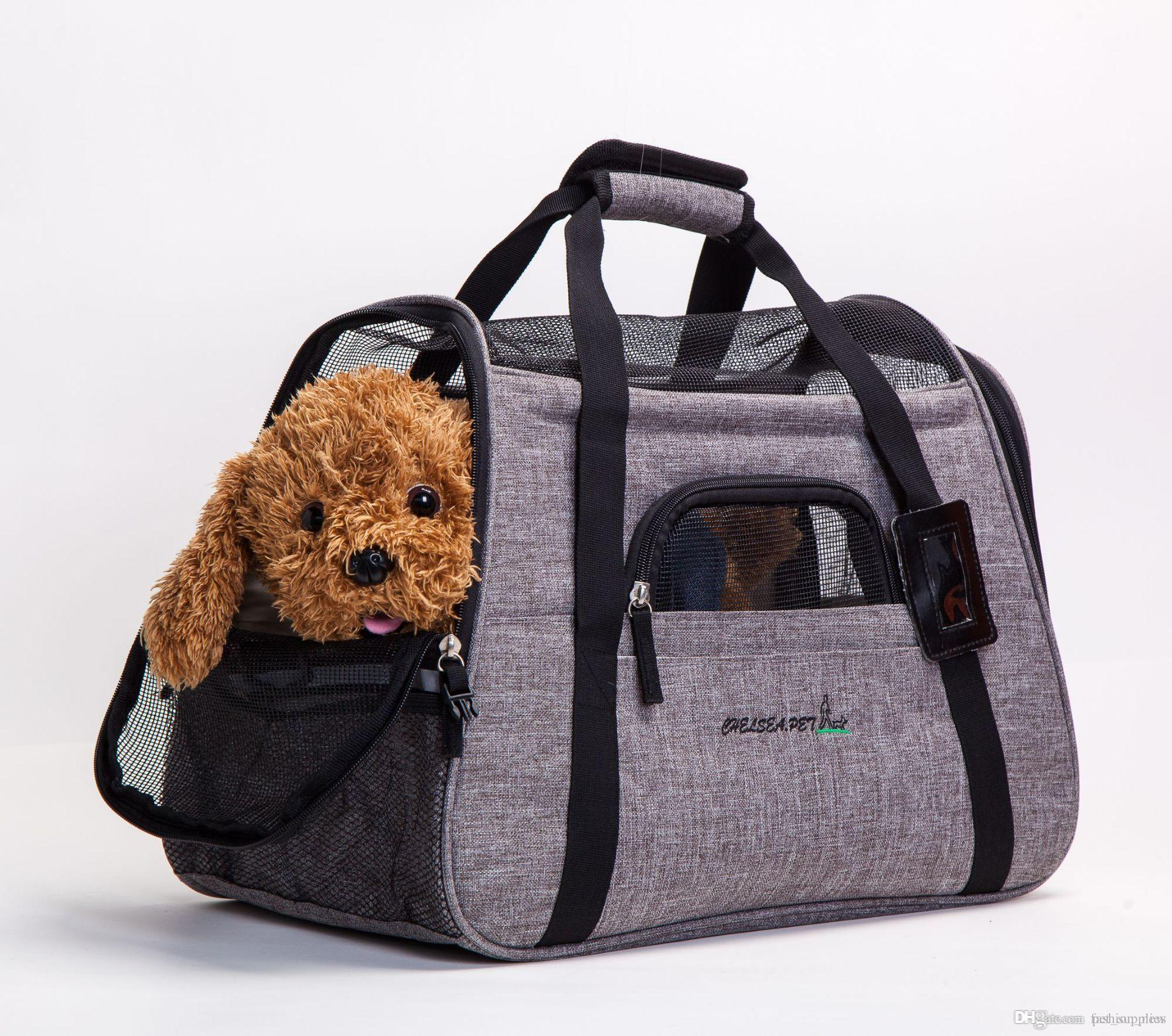New Arrival Portable Pet Carrier Dog Bag Breathable Mesh Handbag Carrying  Bag For Dog Pet Cat Carrier Outdoor Travel Carrying For Animals UK 2019  From ... c05bd3bc1132