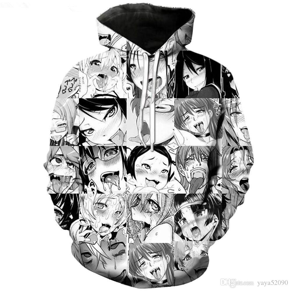 New Fashion Couples Men Women Unisex Classic Cartoon Anime Girl 3D Print Hoodies shirts Sweater Sweatshirt Jacket Pullover Top size S-5XL