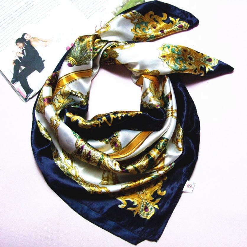 Donne di modo di alta qualità imitato seta sciarpa quadrata scialle di alta qualità donne fazzoletto da collo poncho scialli sciarpe avvolgere Foulards