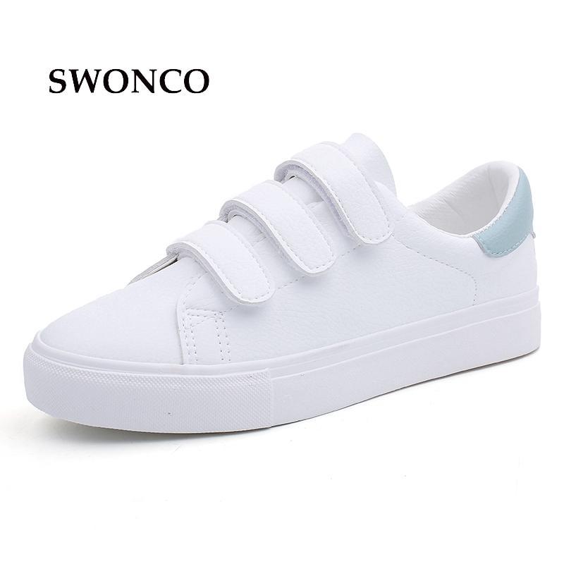Compre 2019 Casual Vulcão SWONCO Calçados Femininos Sapatilhas Doces Cor  Loop Loop Sapatos De Lona Sapatilhas Brancas Mulheres Sola De Borracha  Senhoras ... 64c8f7a5d14
