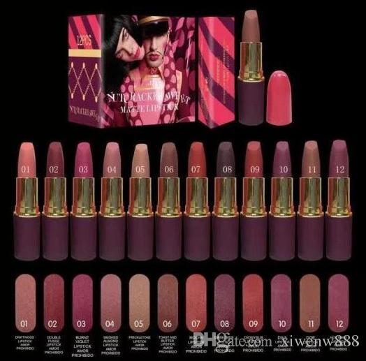 최고의 품질 새로운 매트 립스틱 새로운 메이크업 매트 립스틱 호두 까기 인형 립스틱 3G 화장품 립스틱 믹스 컬러