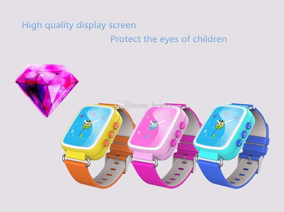 Q80 Crianças GPS de Posicionamento do Telefone Inteligente SOS Relógio de 1.44 Polegadas Cor Anti Perdido Two-way Call Watch PK Q50 Q60 Q90 Q730