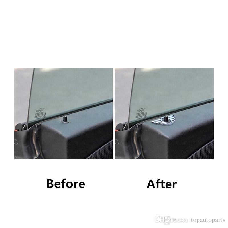 Il trasporto libero / set 3D Car Styling Decalcomanie Adesivi porte Decorazione metallo etichettatura Mention Wings adesivi auto BMW Mini