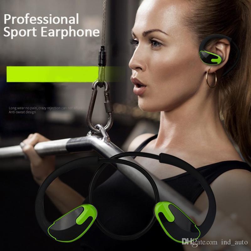 Kulak Kablosuz Bluetooth Kulak telefonları CSR8635 Spor Stereo Bas Kulaklık Mic Gürültü Iptal Uzun Süreli CSR4.1 Iphone Samsung Için Kulaklıklar