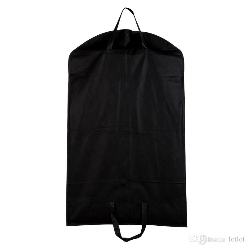 Black Dustproof Hanger Coat Clothes Garment Suit Cover Storage Bags,clothes storage,almacenamiento,Case for clothes E5M1