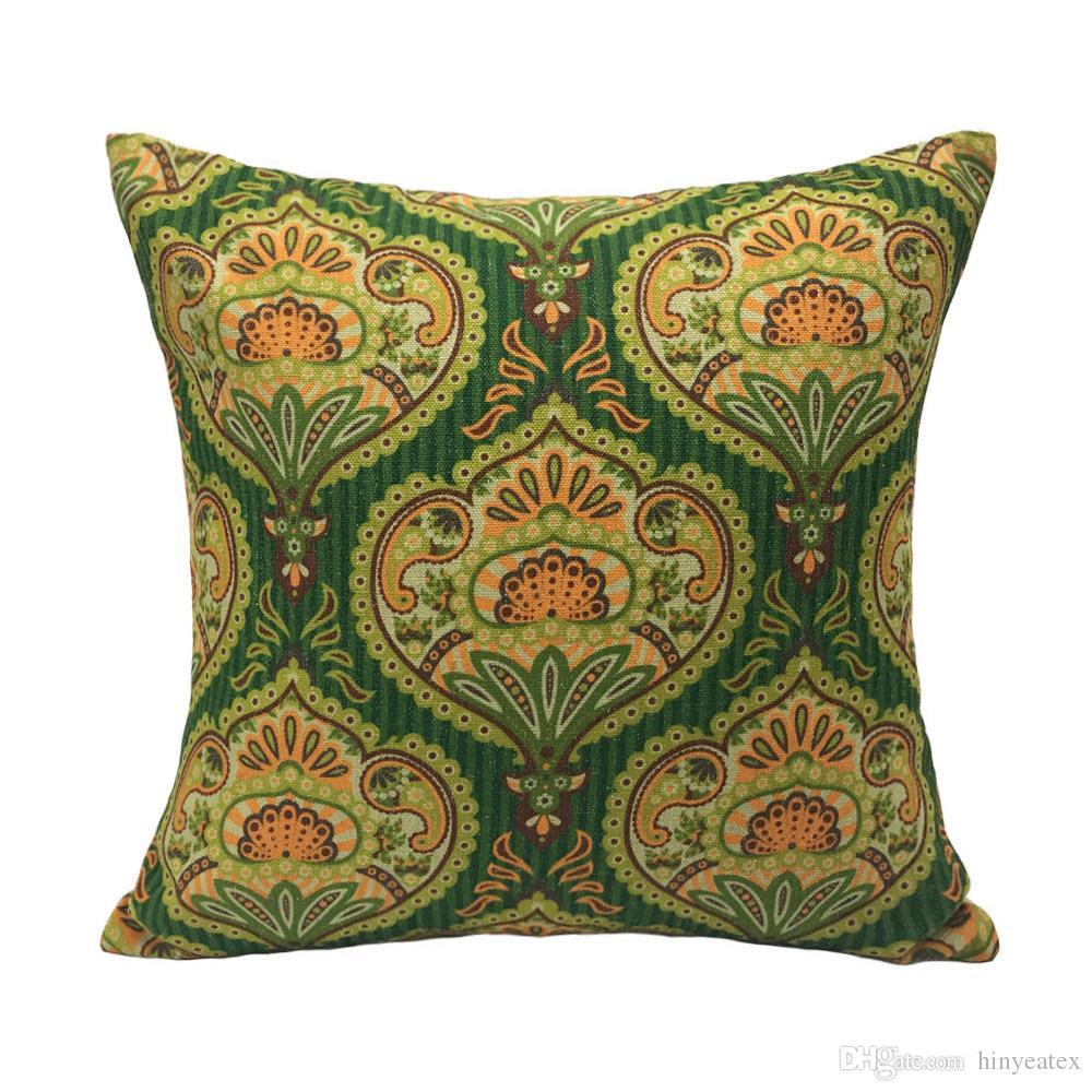 Vintage Damask Green Digital Print Decorative Throw Pillow Case Polyester  Sofa Chair Home Designer Interior Cushion Cover Gift 45x45cm Patio Lounge  Chair ... 05e5b40f0065