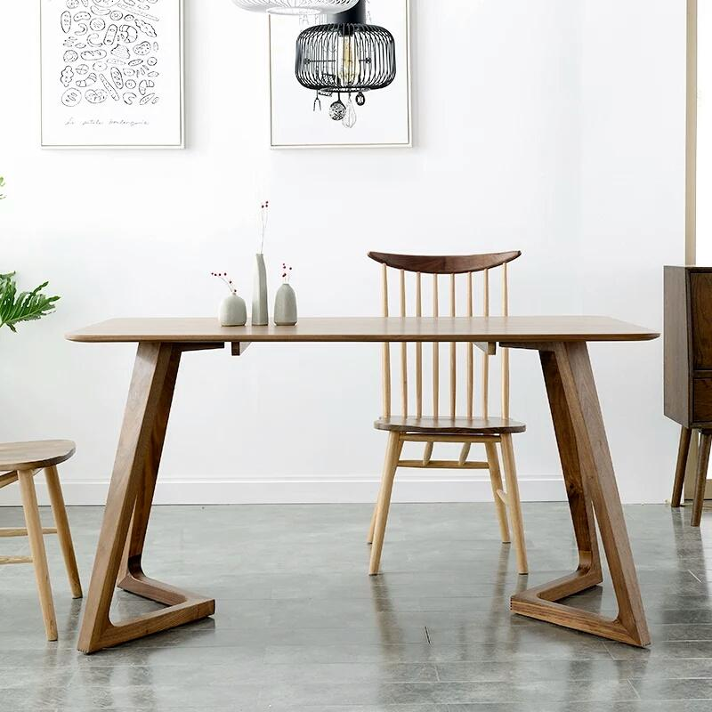 2018 Solid Wood Dining Table Black Walnut Simple Modern Creative Computer Desk Anese Furniture Logs From Loveinhome 557 79 Dhgate Com