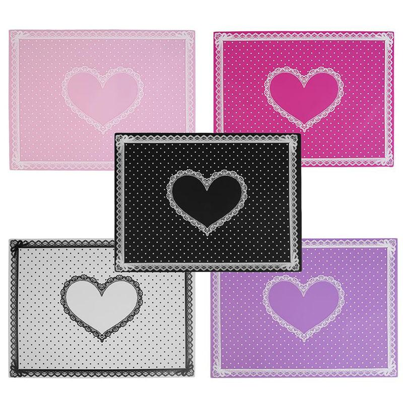 Art Table Mats Art Table Mat Cute Point Lace Silicone Foldable ...