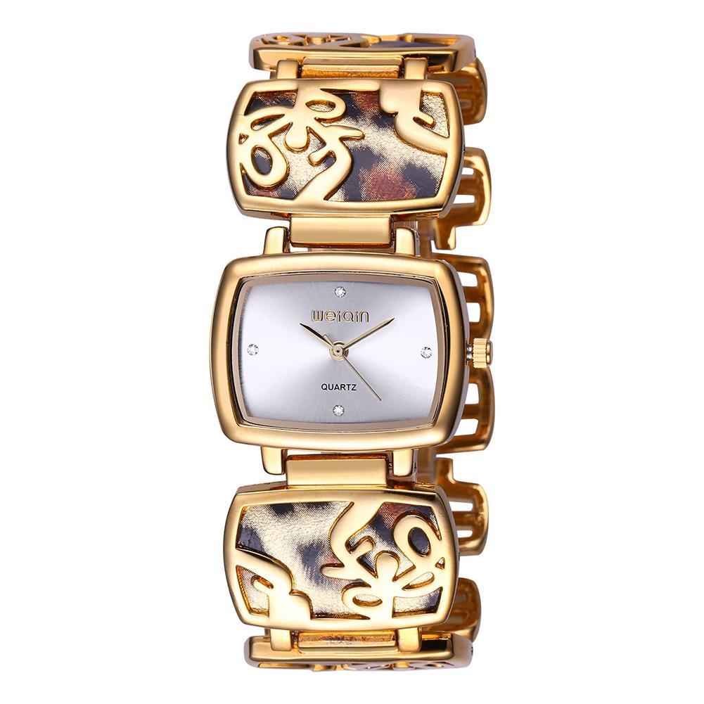 5da0e4659a72 Compre WEIQIN Marca Lujo Cristal Oro Relojes Mujer Moda Reloj Pulsera Cuarzo  Impermeable Feminino Orologio Donna A  24.51 Del Mangosteeni