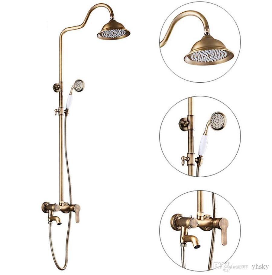 Großhandel Hohe Qualität Badezimmer Dusche Set Kupfer Vintage