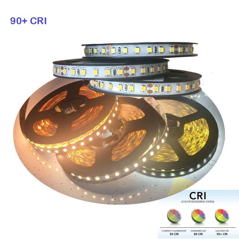 watch 20a3a 26ad7 2018 New High CRI 90 5m 600 LED 2835 LED strip Light , DC 12V flexible  light 120 led/m strip white/warm white